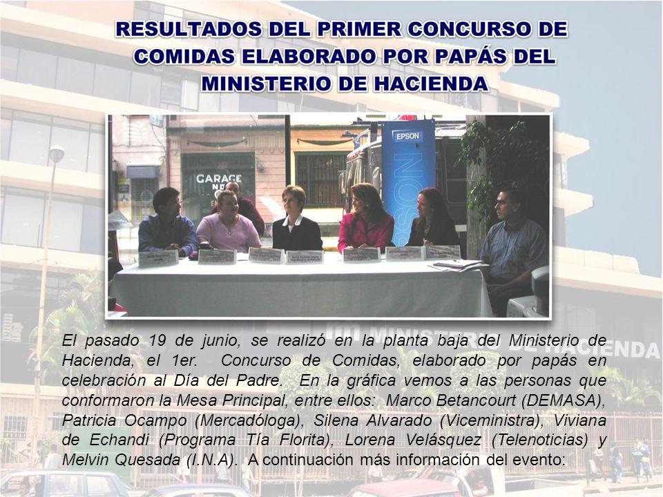 El pasado 19 de junio, se realizó en la planta baja del Ministerio de Hacienda, el 1er.