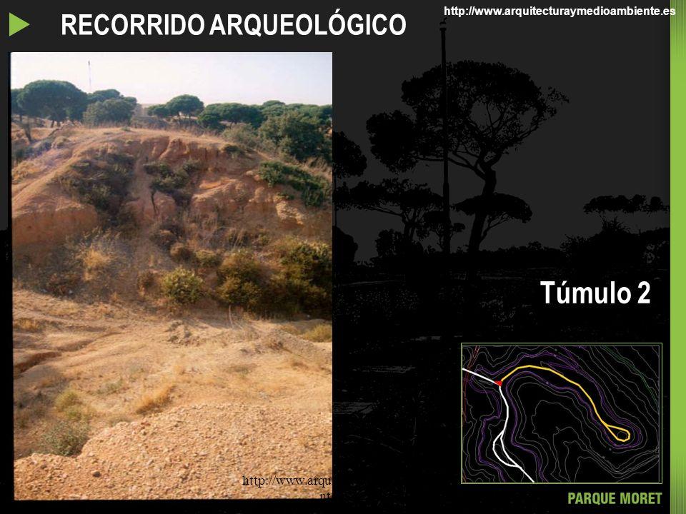 RECORRIDOS POR EL PARQUE MORET RECORRIDO ARQUEOLÓGICO Túmulo 2 http://www.arquitecturaymedioambie nte.com/ http://www.arquitecturaymedioambiente.es