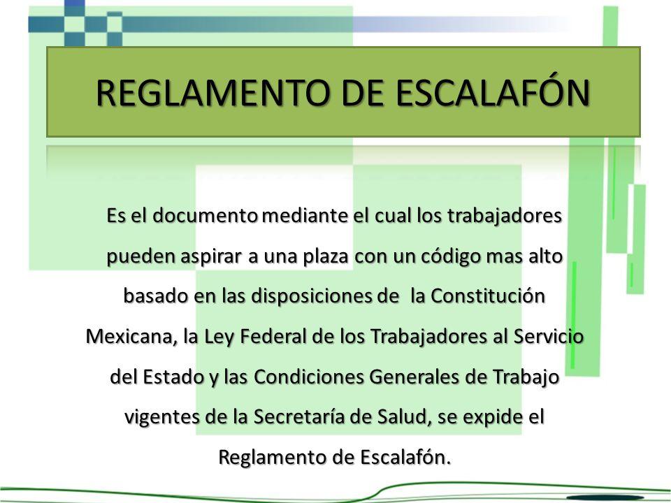 Es el documento mediante el cual los trabajadores pueden aspirar a una plaza con un código mas alto basado en las disposiciones de la Constitución Mex