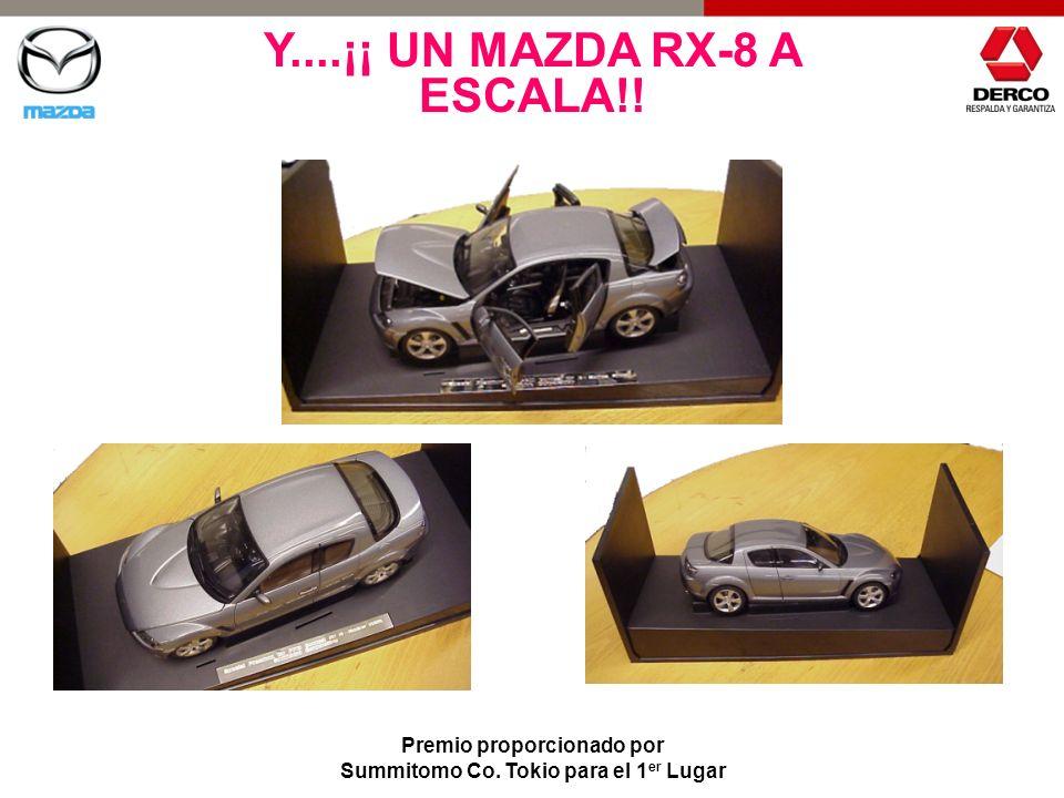 Y....¡¡ UN MAZDA RX-8 A ESCALA!! Premio proporcionado por Summitomo Co. Tokio para el 1 er Lugar