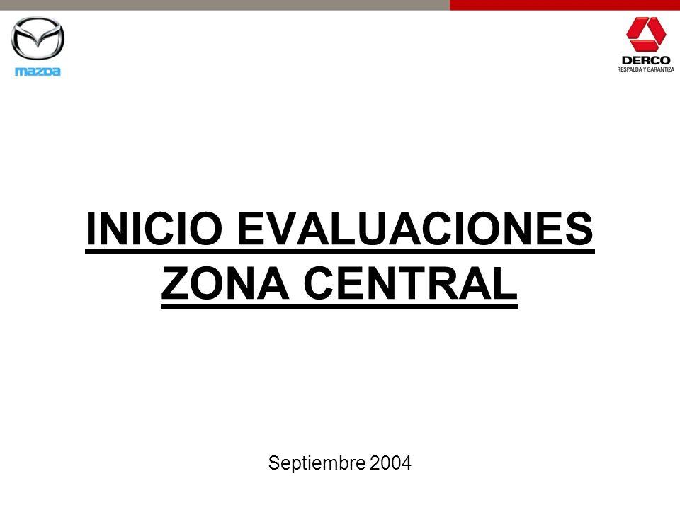 INICIO EVALUACIONES ZONA CENTRAL Septiembre 2004