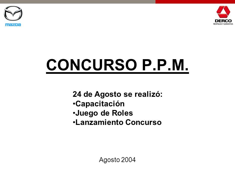 CONCURSO P.P.M. Agosto 2004 24 de Agosto se realizó: Capacitación Juego de Roles Lanzamiento Concurso