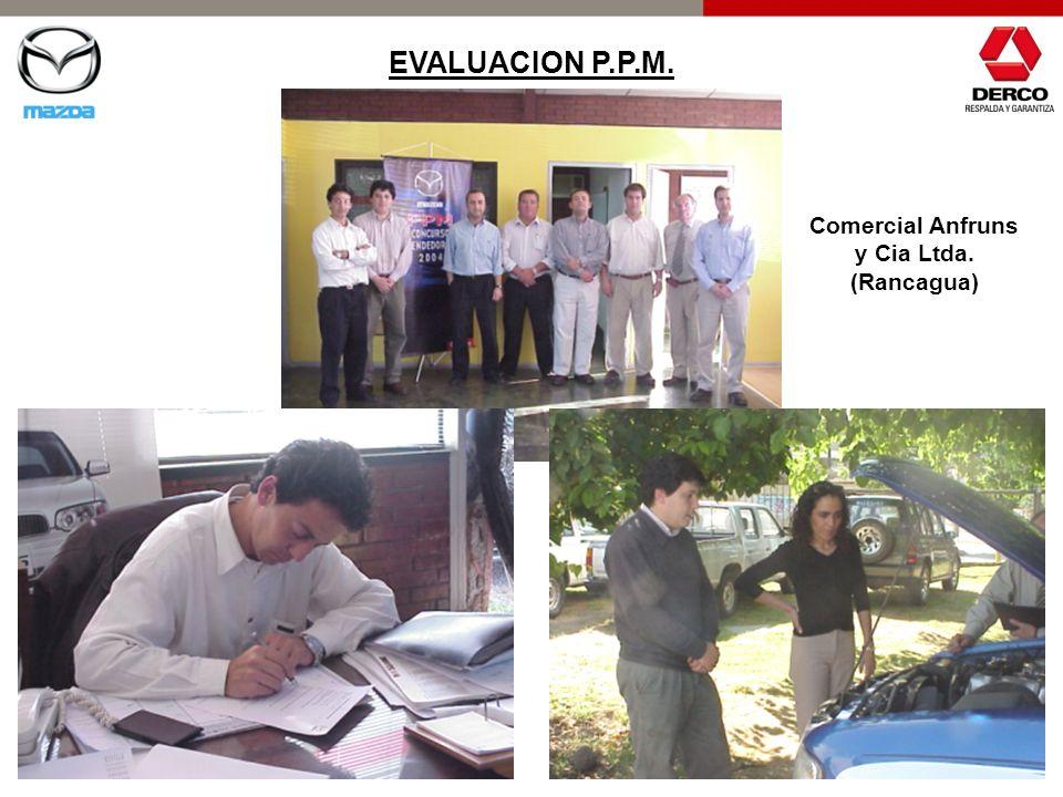EVALUACION P.P.M. Comercial Anfruns y Cia Ltda. (Rancagua)