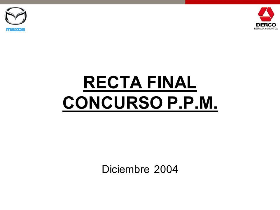 RECTA FINAL CONCURSO P.P.M. Diciembre 2004