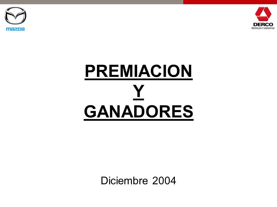 PREMIACION Y GANADORES Diciembre 2004