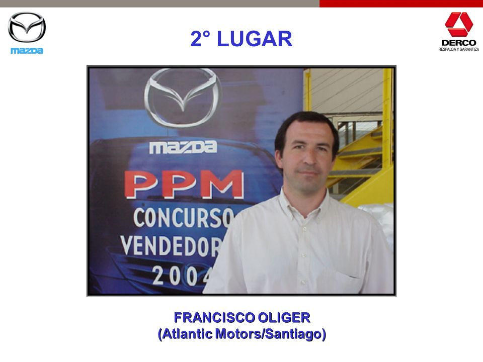 2° LUGAR FRANCISCO OLIGER (Atlantic Motors/Santiago) FRANCISCO OLIGER (Atlantic Motors/Santiago)