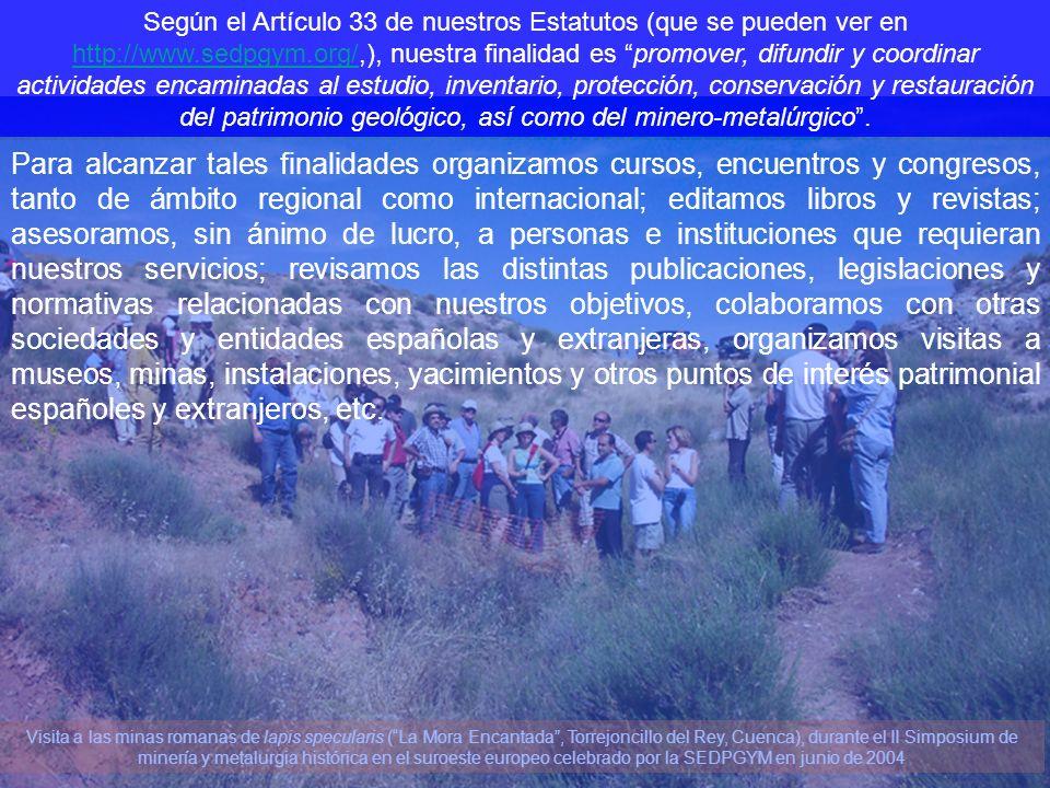 Visita a las minas romanas de lapis specularis (La Mora Encantada, Torrejoncillo del Rey, Cuenca), durante el II Simposium de minería y metalurgia his