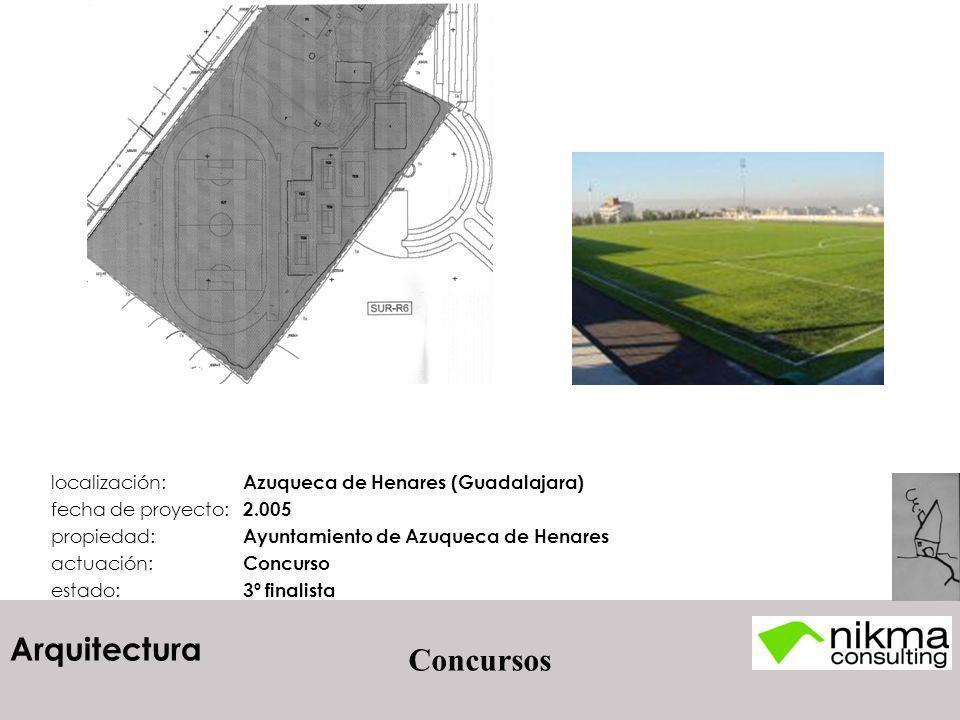 Arquitectura Concursos localización: Azuqueca de Henares (Guadalajara) fecha de proyecto: 2.005 propiedad: Ayuntamiento de Azuqueca de Henares actuaci