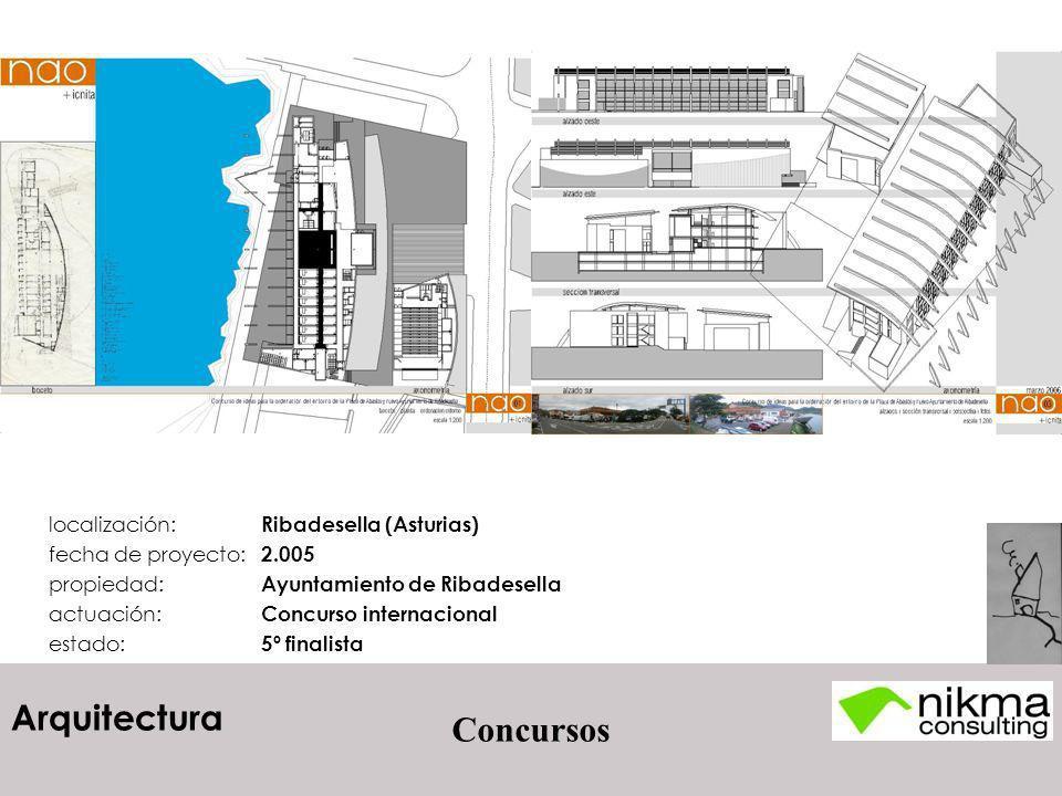 Arquitectura Concursos localización: Ribadesella (Asturias) fecha de proyecto: 2.005 propiedad: Ayuntamiento de Ribadesella actuación: Concurso intern