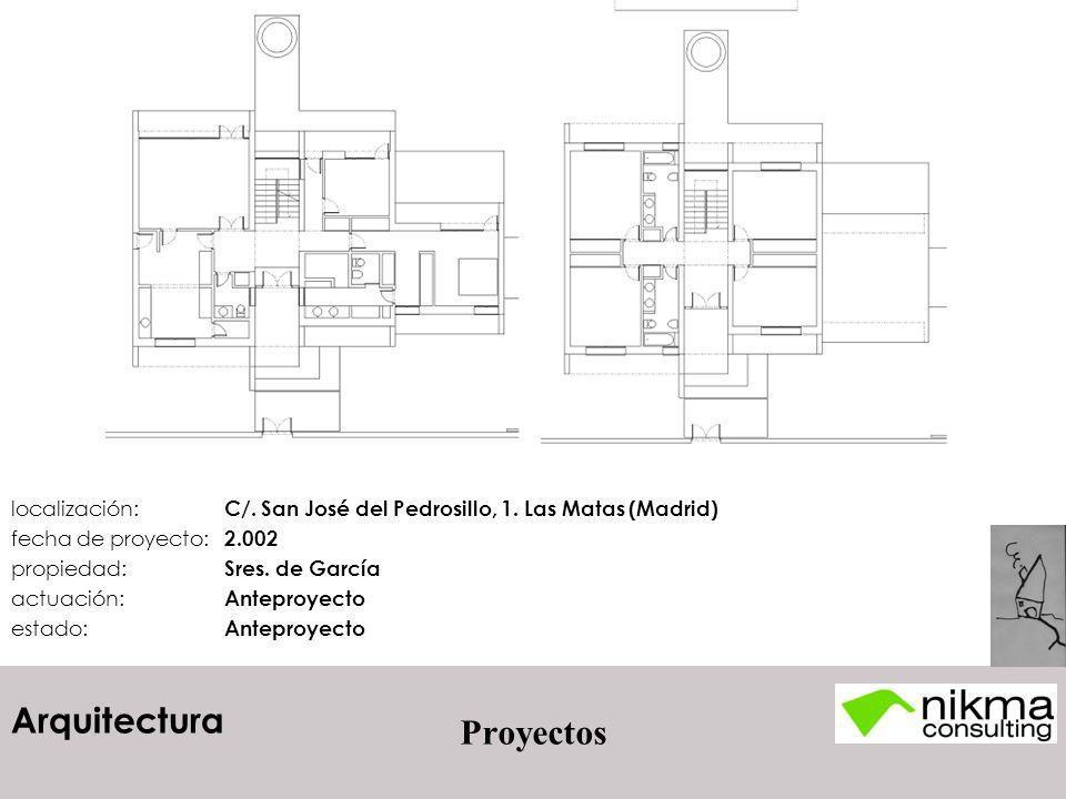 Arquitectura Proyectos localización: C/. San José del Pedrosillo, 1. Las Matas (Madrid) fecha de proyecto: 2.002 propiedad: Sres. de García actuación: