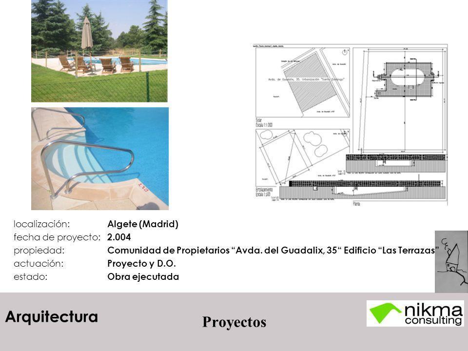 Arquitectura Proyectos localización: Algete (Madrid) fecha de proyecto: 2.004 propiedad: Comunidad de Propietarios Avda. del Guadalix, 35 Edificio Las