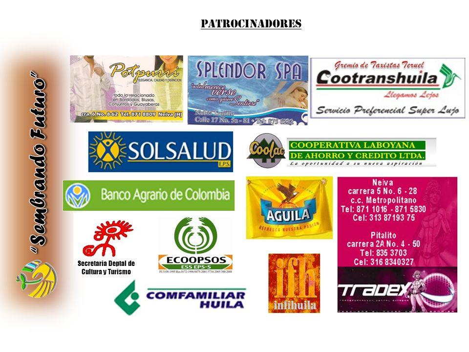 PATROCINADORES Secretaria Deptal de Cultura y Turismo
