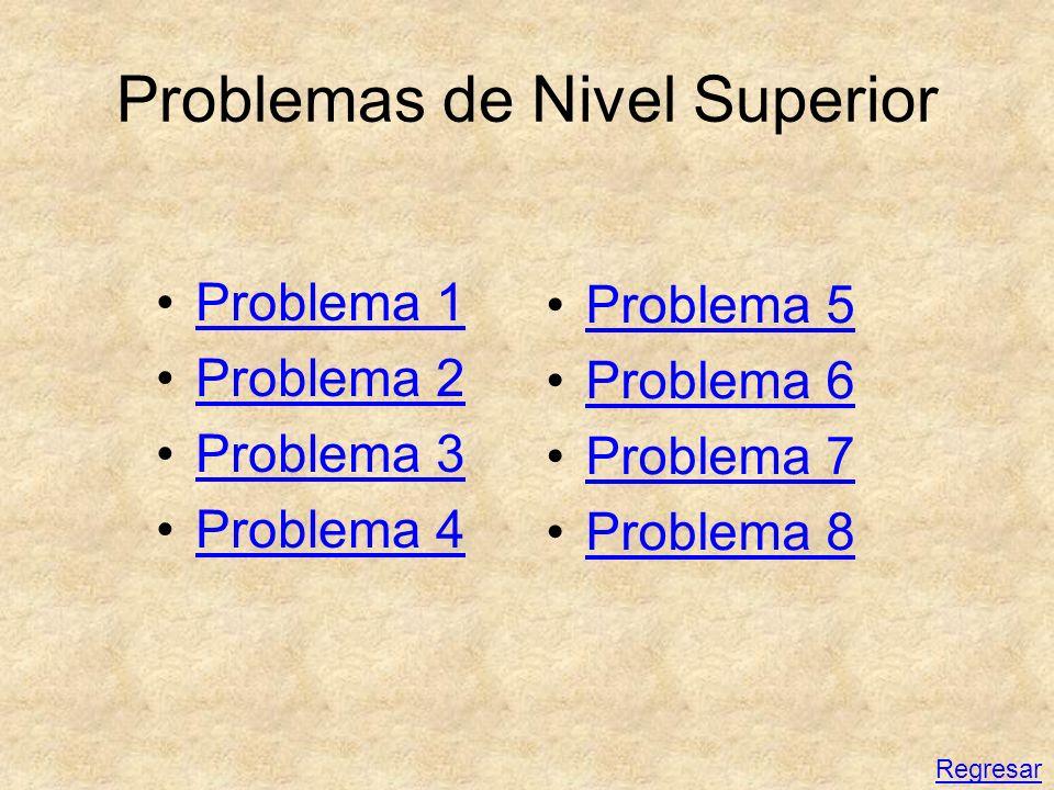 Problemas de Nivel Superior Problema 1 Problema 2 Problema 3 Problema 4 Problema 5 Problema 6 Problema 7 Problema 8 Regresar