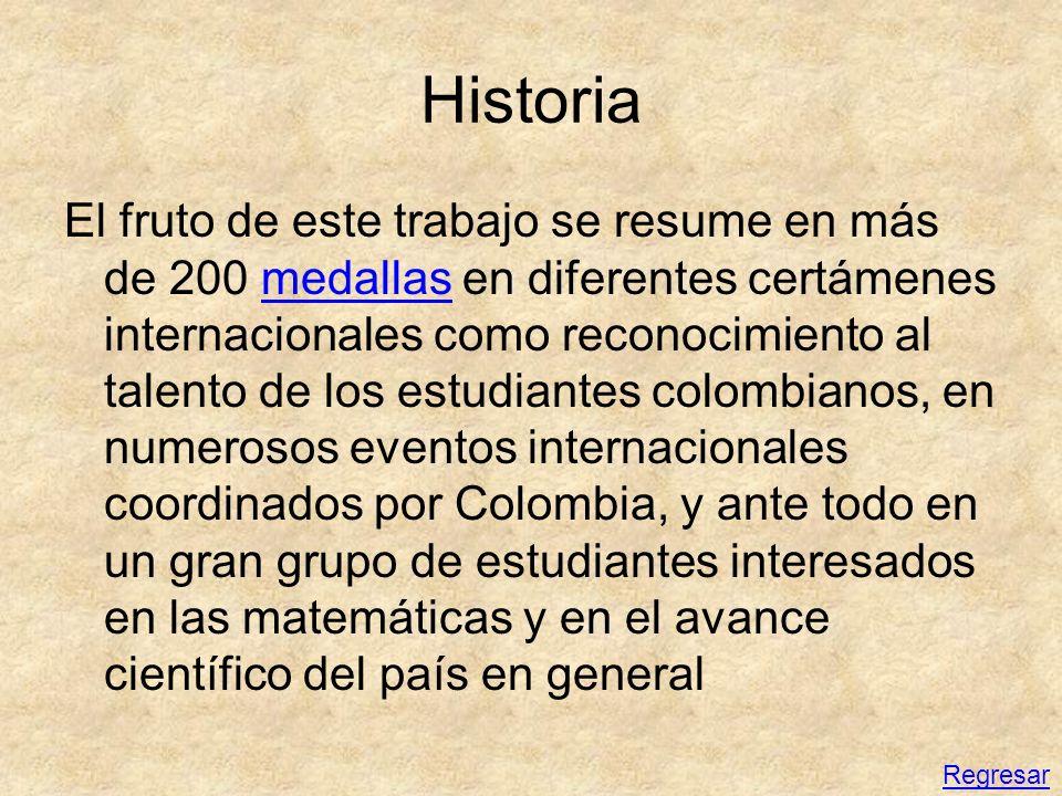 Eventos internacionales por correspondencia Nivel colegios Olimpiada Bolivariana de Matemáticas Evento impulsado por Colombia, se realiza con las mismas pruebas que la ronda final nacional.