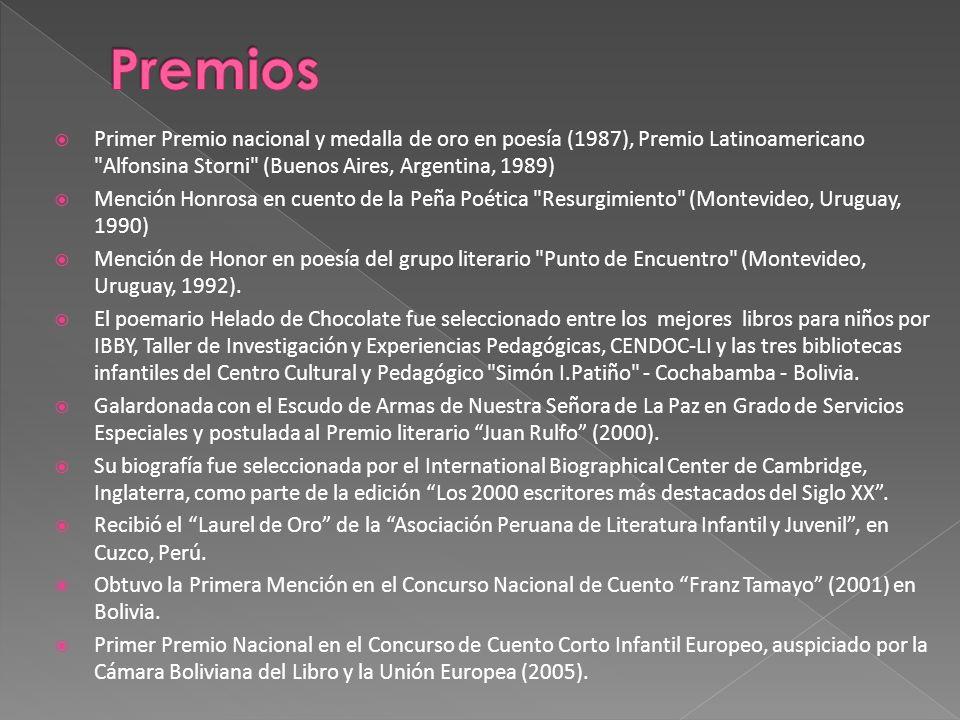 Primer Premio nacional y medalla de oro en poesía (1987), Premio Latinoamericano
