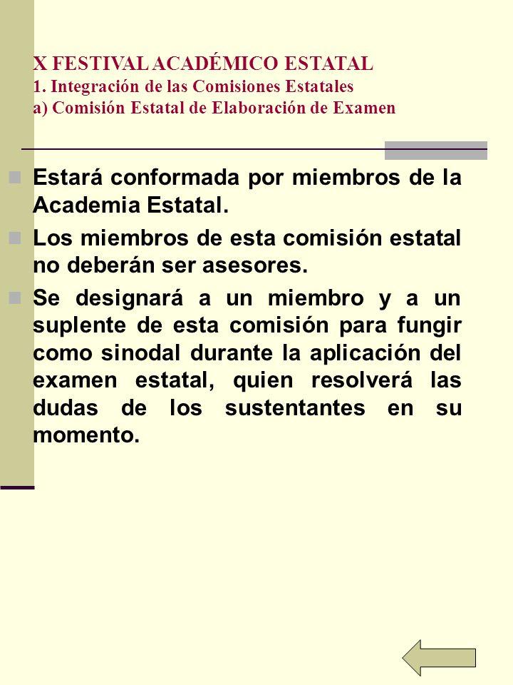 X FESTIVAL ACADÉMICO ESTATAL 1.