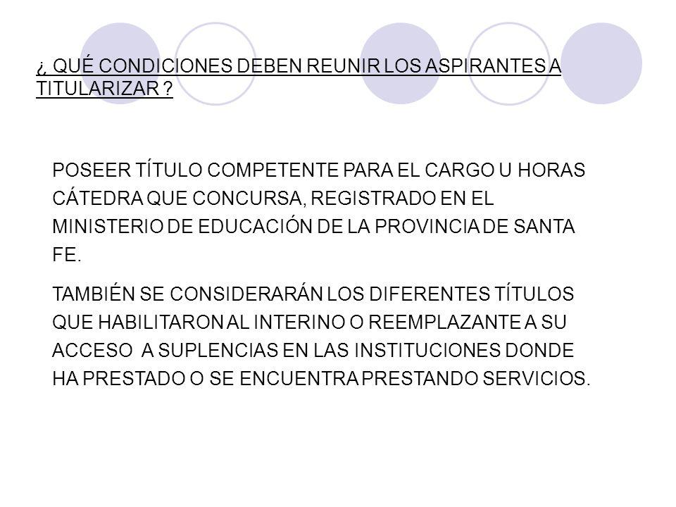 POSEER UN DESEMPEÑO MÍNIMO DE DOS (2) AÑOS COMO SUPLENTE EN INSTITUCIONES OFICIALES DE NIVEL SUPERIOR DE LA PROVINCIA DE SANTA FE AL 30 DE SETIEMBRE DEL 2008.