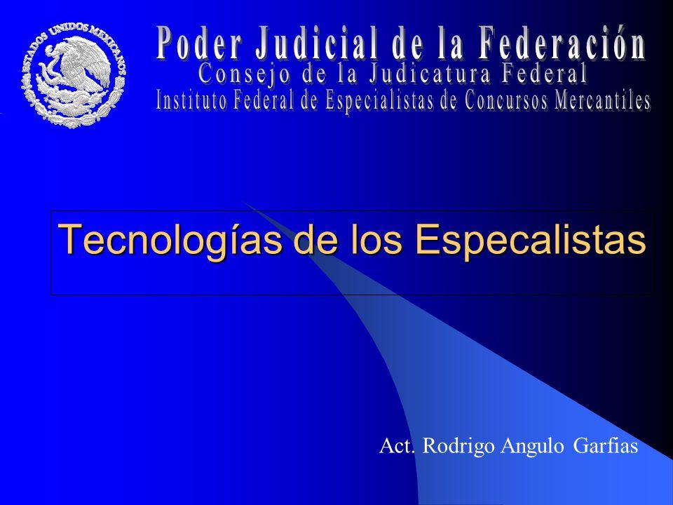 Tecnologías de los Especalistas Act. Rodrigo Angulo Garfias