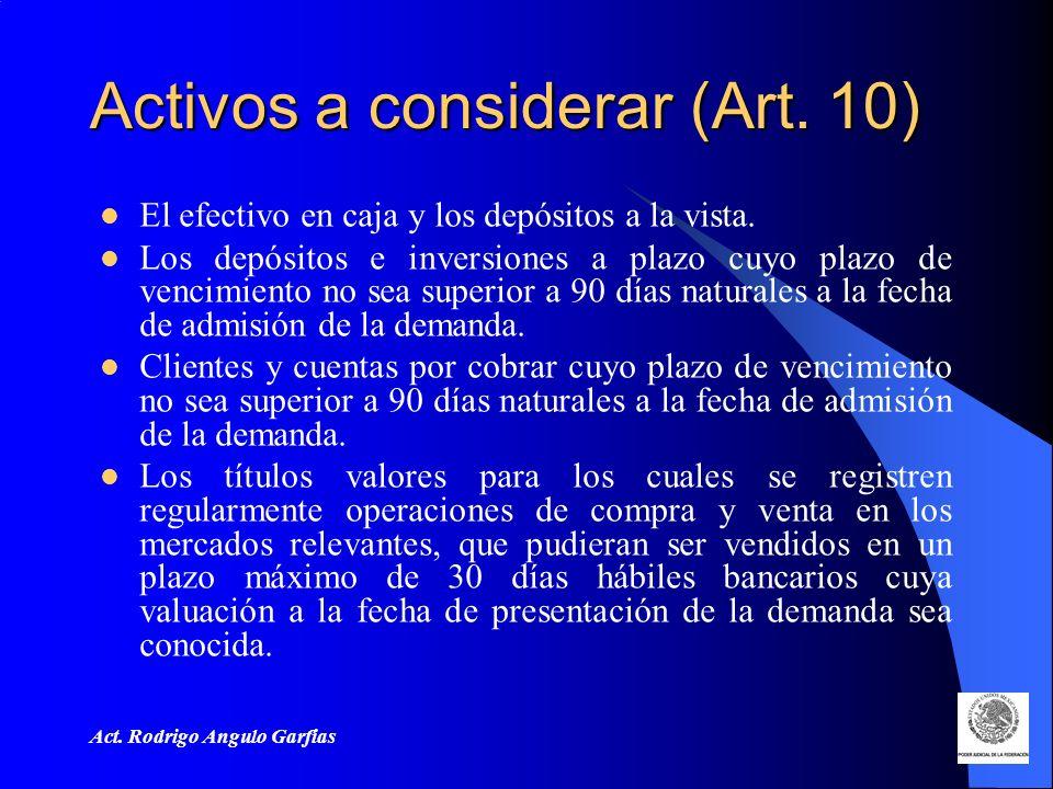 Act.Rodrigo Angulo Garfias Activos a considerar (Art.