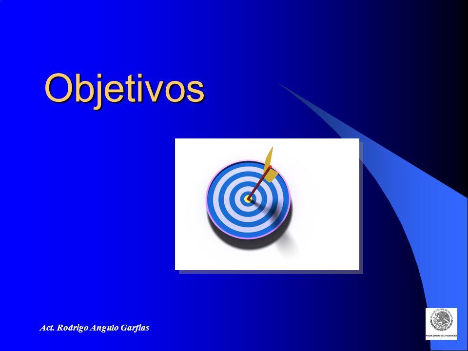 Act. Rodrigo Angulo Garfias Objetivos