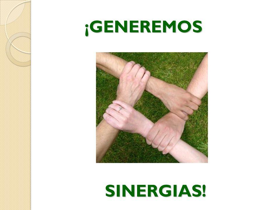 ¡GENEREMOS SINERGIAS! SINERGIAS!