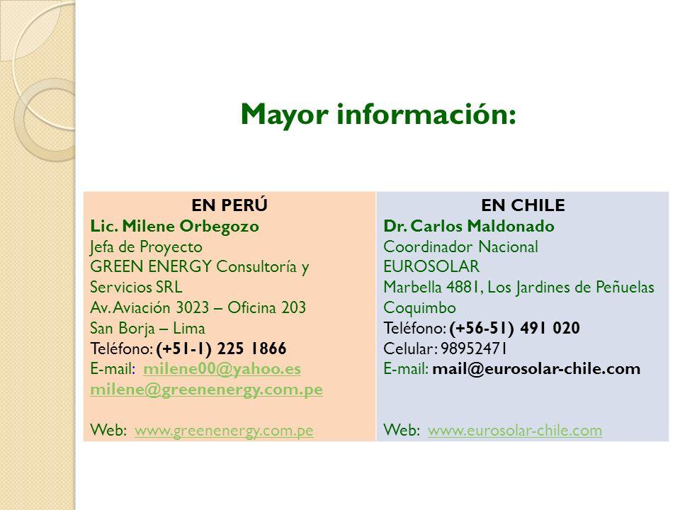 Mayor información: EN PERÚ Lic.