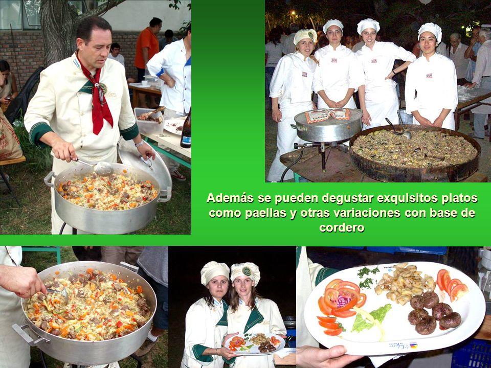 Además se pueden degustar exquisitos platos como paellas y otras variaciones con base de cordero