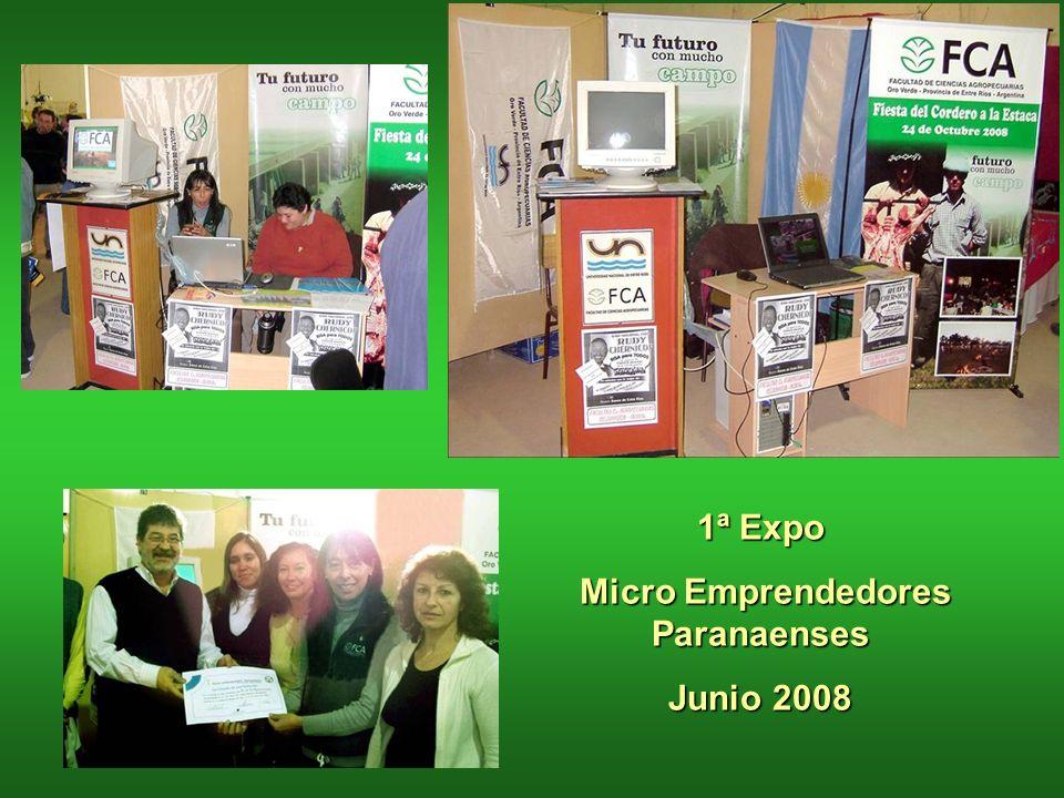 1ª Expo Micro Emprendedores Paranaenses Junio 2008