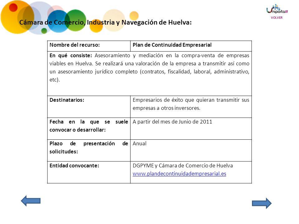 Nombre del recurso:Plan de Continuidad Empresarial En qué consiste: Asesoramiento y mediación en la compra-venta de empresas viables en Huelva.