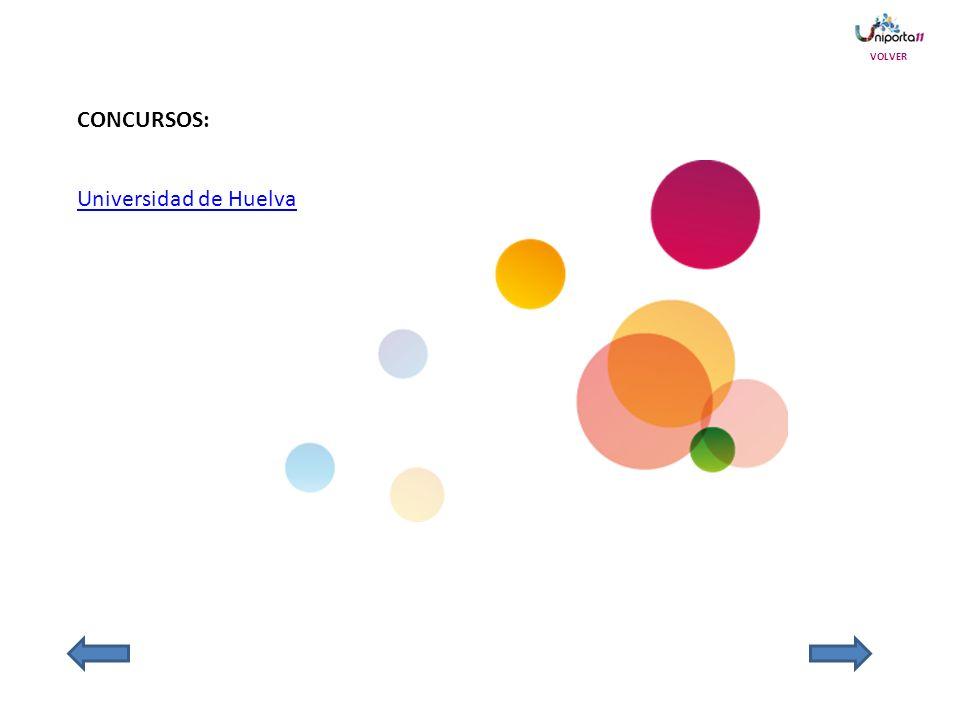 CONCURSOS: Universidad de Huelva VOLVER
