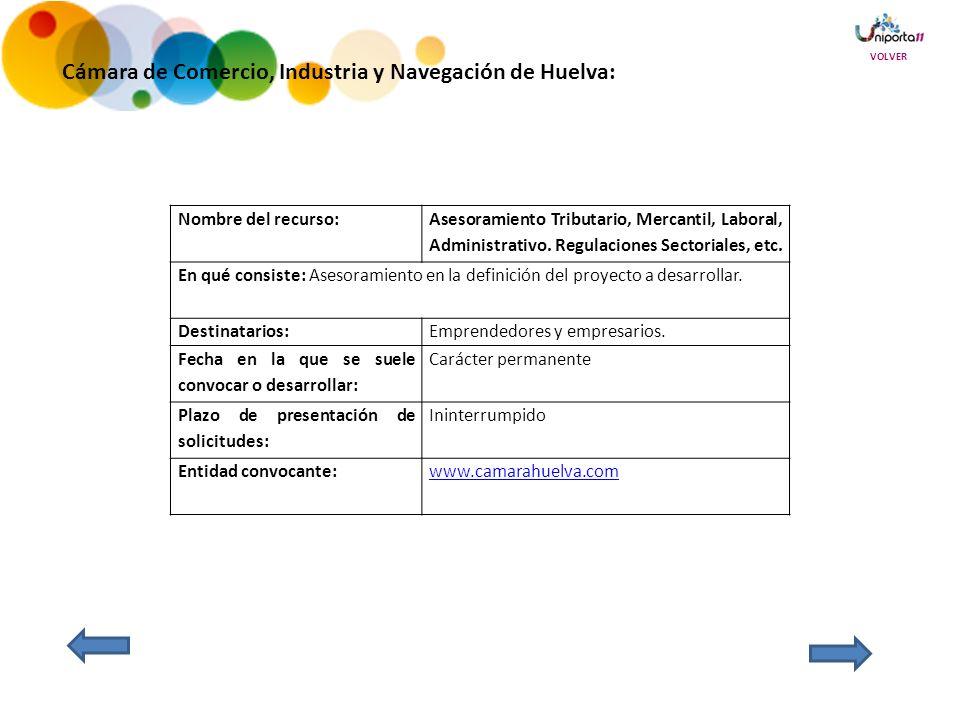 Cámara de Comercio, Industria y Navegación de Huelva: Nombre del recurso: Asesoramiento Tributario, Mercantil, Laboral, Administrativo.