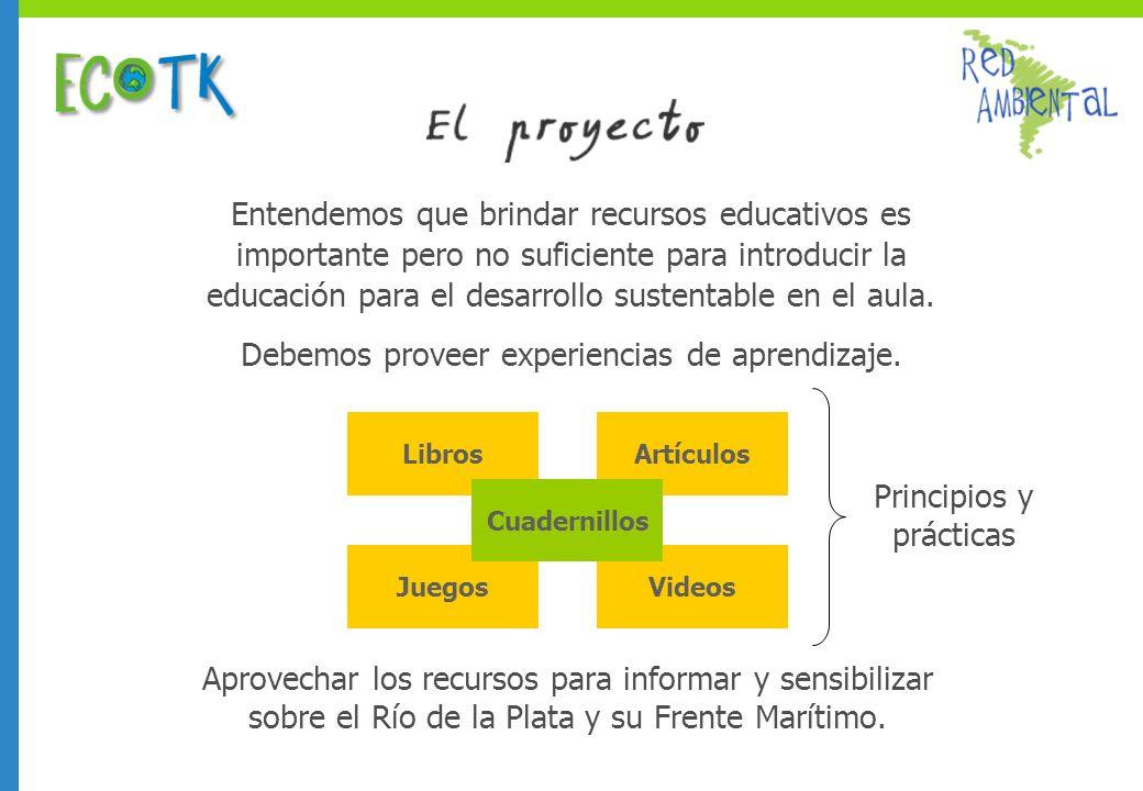 Libros JuegosVideos Artículos Entendemos que brindar recursos educativos es importante pero no suficiente para introducir la educación para el desarrollo sustentable en el aula.