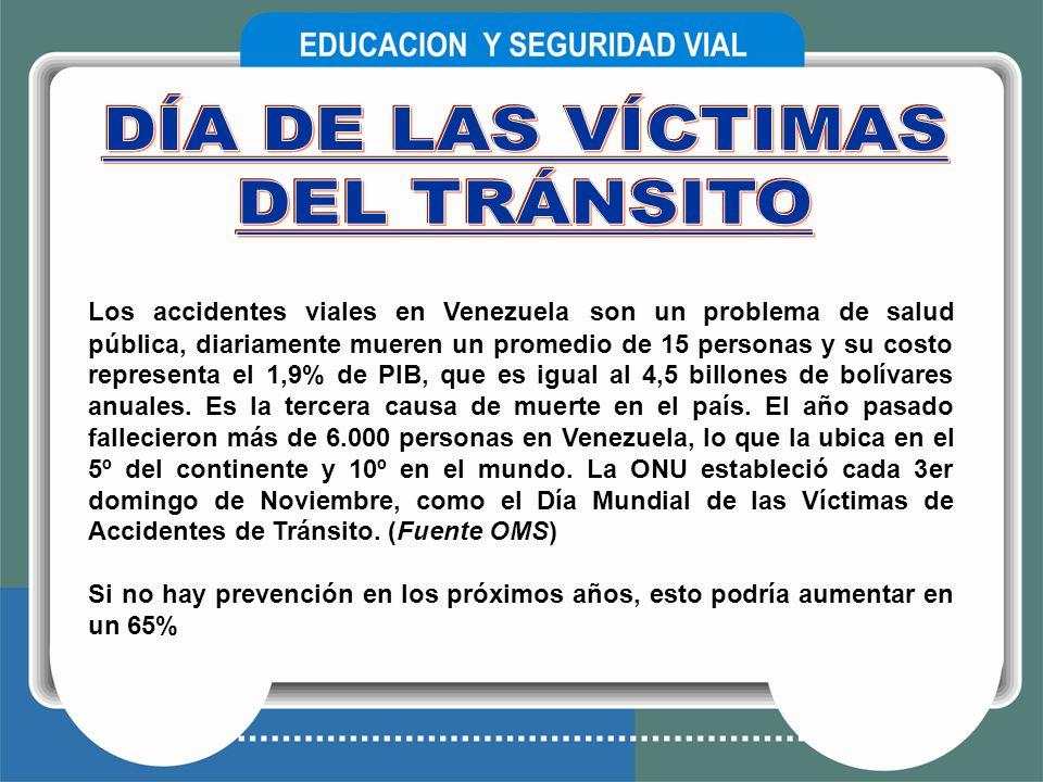 Los accidentes viales en Venezuela son un problema de salud pública, diariamente mueren un promedio de 15 personas y su costo representa el 1,9% de PI