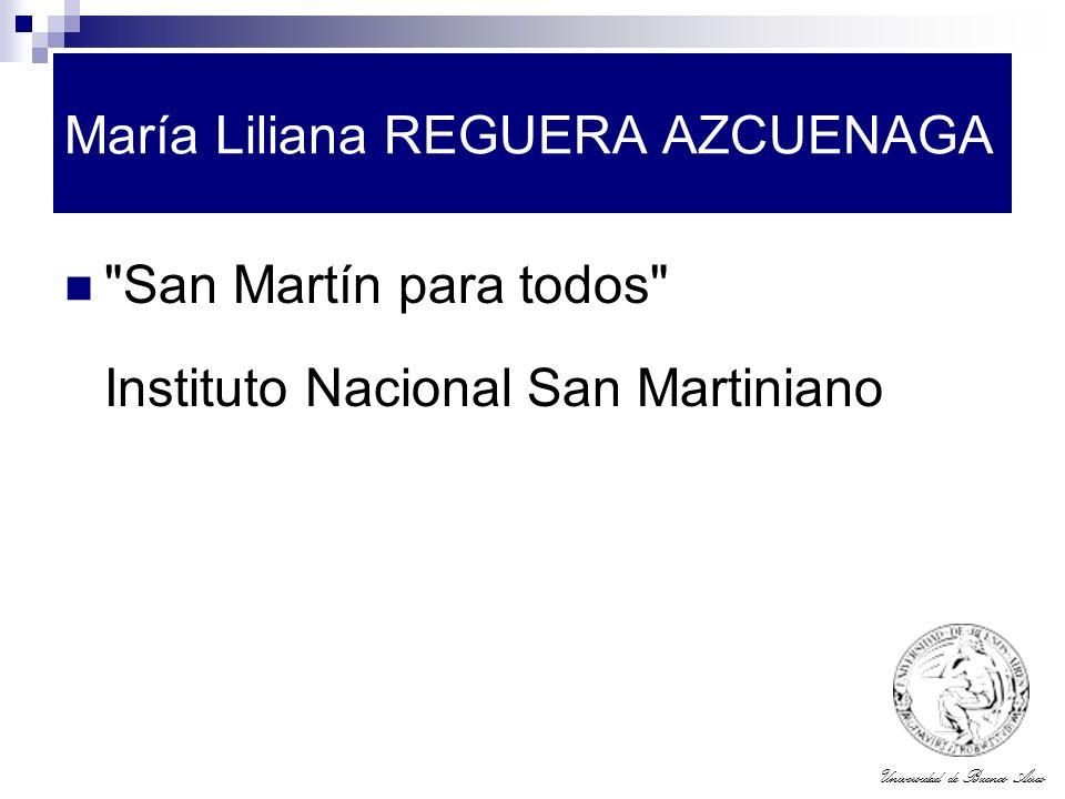 Universidad de Buenos Aires María Liliana REGUERA AZCUENAGA