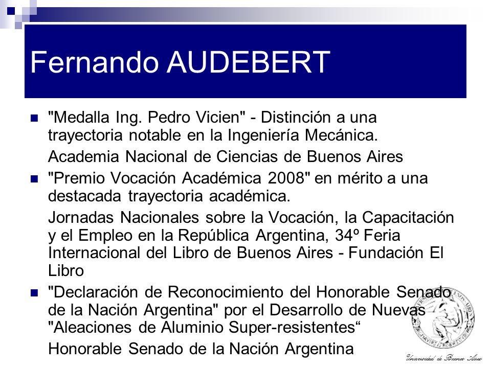 Universidad de Buenos Aires Fernando AUDEBERT