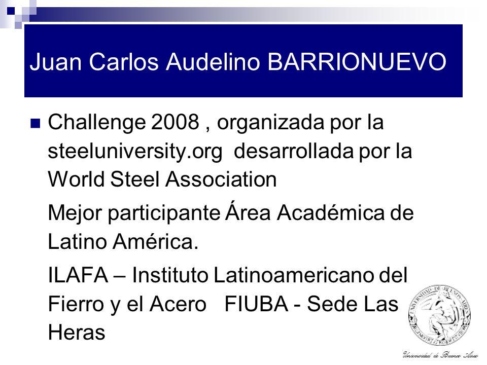 Universidad de Buenos Aires Juan Carlos Audelino BARRIONUEVO Challenge 2008, organizada por la steeluniversity.org desarrollada por la World Steel Ass