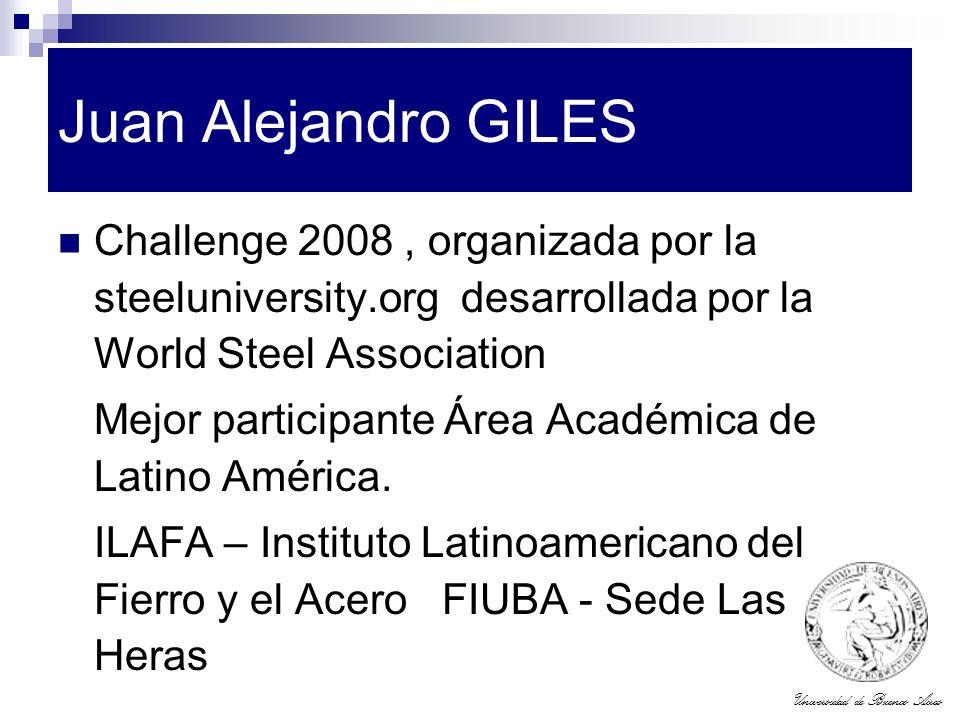 Universidad de Buenos Aires Juan Alejandro GILES Challenge 2008, organizada por la steeluniversity.org desarrollada por la World Steel Association Mej