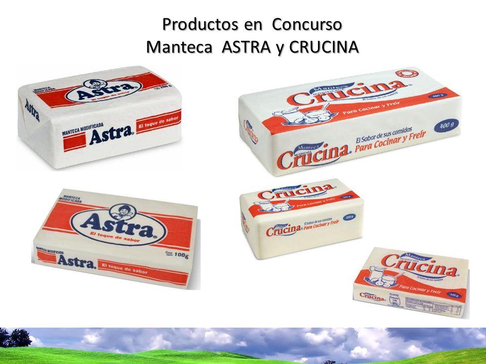 Manteca ASTRA y CRUCINA
