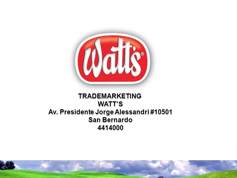 TRADEMARKETINGWATTS Av. Presidente Jorge Alessandri #10501 San Bernardo 4414000