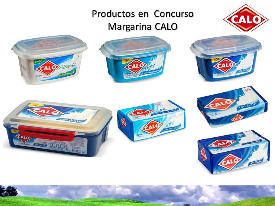 Bases del concurso Productos en Concurso Margarina CALO