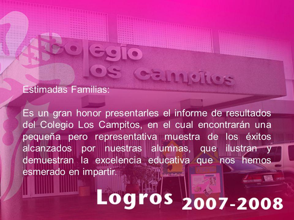 Estimadas Familias: Es un gran honor presentarles el informe de resultados del Colegio Los Campitos, en el cual encontrarán una pequeña pero represent