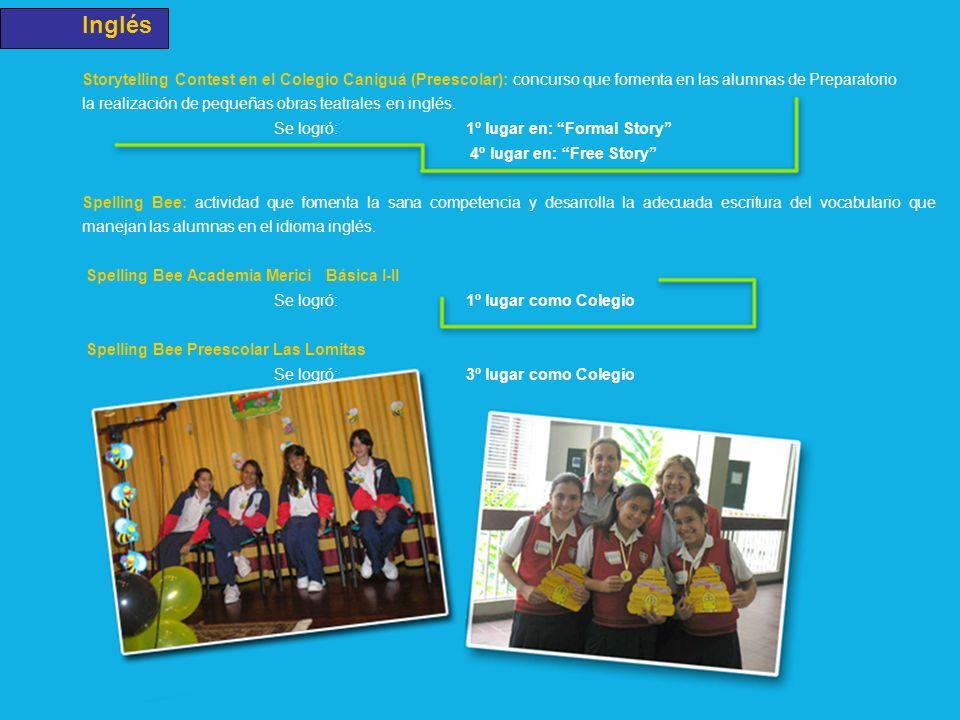 Inglés Storytelling Contest en el Colegio Caniguá (Preescolar): concurso que fomenta en las alumnas de Preparatorio la realización de pequeñas obras t