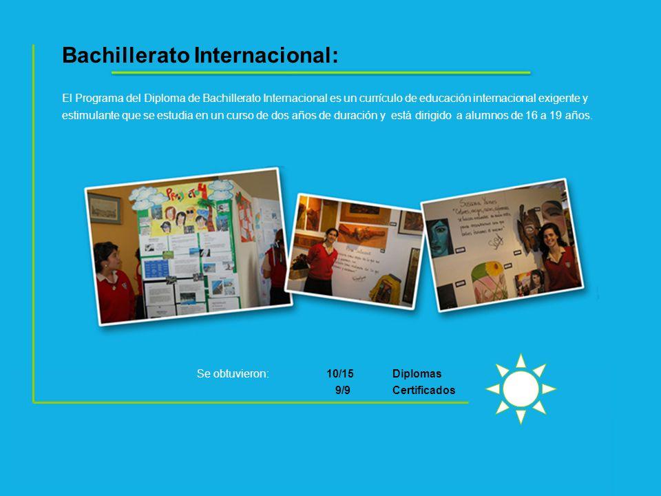 Bachillerato Internacional: El Programa del Diploma de Bachillerato Internacional es un currículo de educación internacional exigente y estimulante qu