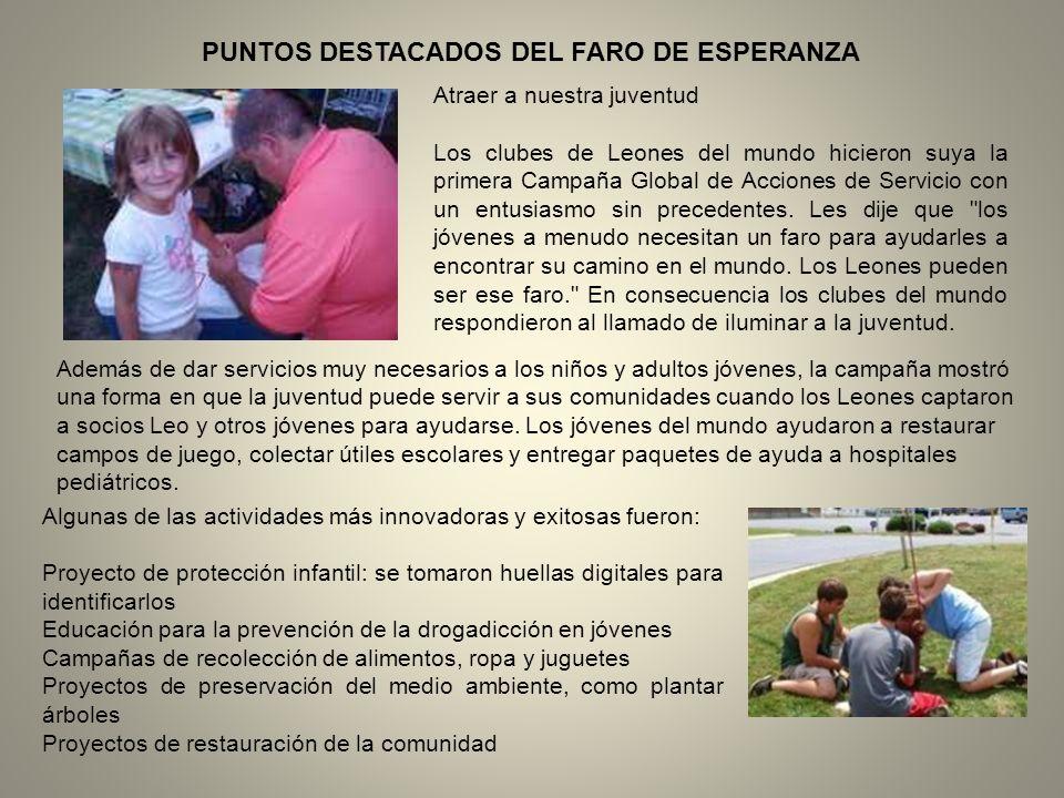 Algunos de los momentos de mayor orgullo de los Leones han tenido que ver con nuestra dedicación a la preservación de la vista y a ayudar a los que sufren trastornos visuales.