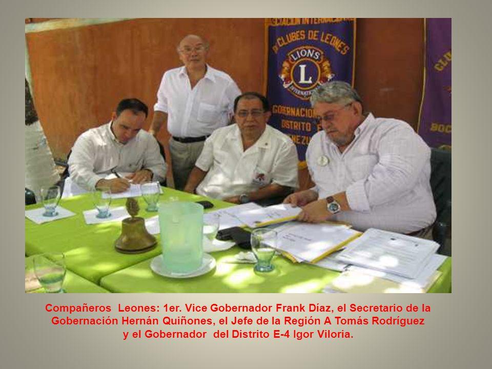 El C.L. Gobernador Igor Viloria y la C.L. Maorli Lugo Jefa de la Región A-4.