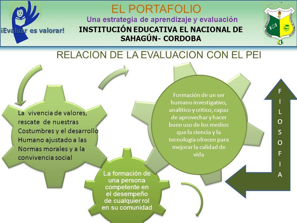 La formación de una persona competente en el desempeño de cualquier rol en su comunidad INSTITUCIÓN EDUCATIVA EL NACIONAL DE SAHAGÚN- CORDOBA EL PORTA