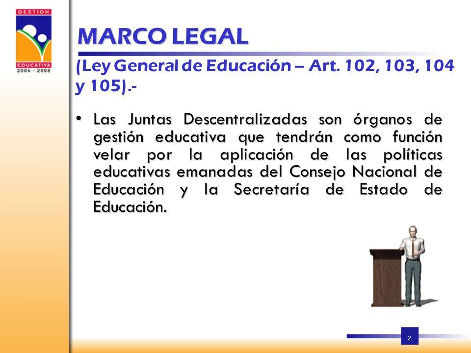 2 MARCO LEGAL (Ley General de Educación – Art.