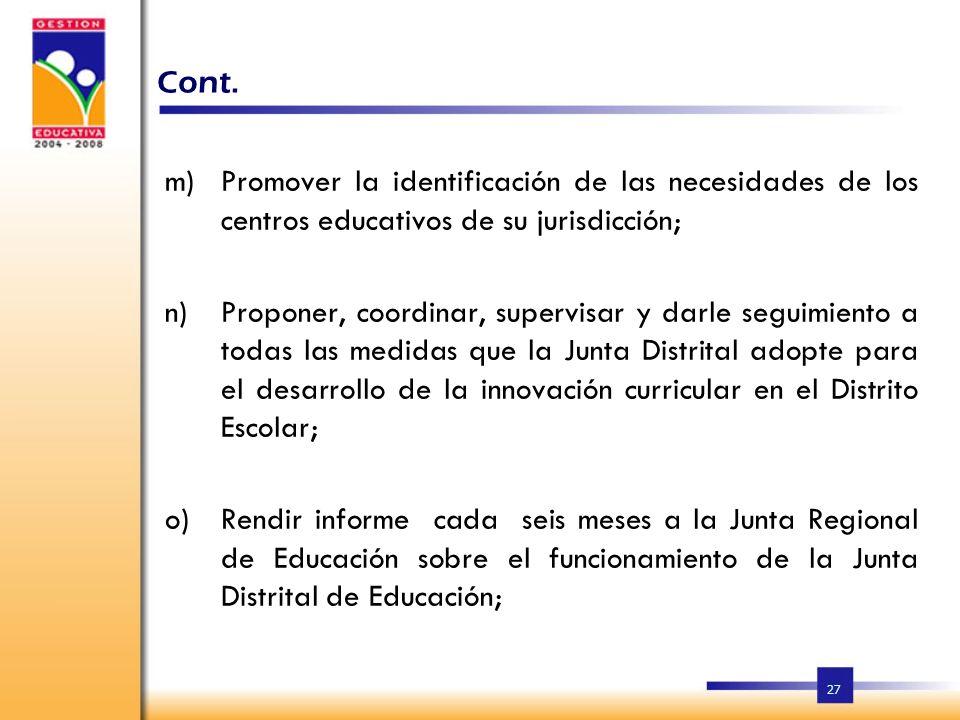 26 k)Organizar, junto al Comité de la Calidad Educativa, los concursos de oposición, el procesamiento y las propuestas de candidatos que la Junta Dist