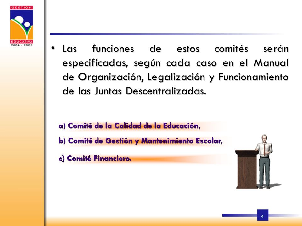 3 LA ESTRUCTURA Y FUNCIONAMIENTO A) JUNTAS REGIONALES DE EDUCACIÓN; B) JUNTAS DISTRITALES DE EDUCACIÓN; C) JUNTAS DE CENTROS EDUCATIVOS; D) JUNTAS DE