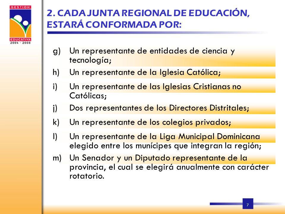 6 Las funciones de las Juntas Regionales de Educación, son las siguientes: 1. LAS JUNTAS REGIONALES DE EDUCACION a)La definición de los planes de desa